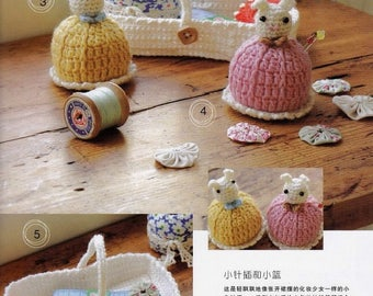 "JAPANESE CROCHET PATTERN-""Half-day magic crochet""by Sashiyo and Fukao-Japanese Craft E-Book #42-crochet cute accessories for home,Two Pdf"
