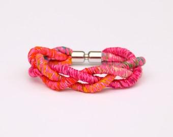 Colorful Braided Bracelet, Textile Bracelet, Summer Bracelet, Rope Bracelet, Boho Bracelet, Festival Bracelet, Woven Bracelet