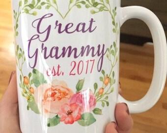 Great Grammy Coffee Mug - Pregnancy Announcement - Birthday Gift