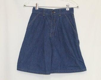 Calvin Klein Denim Skirt XS / High waisted Denim Skirt / Midi Skirt / Designer Skirt