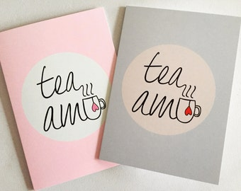 Valentine's Tea Amo Card, Love Pun Blank Card, Anniversary Card, Just Because Card, Card For Tea Lover, Tea Lover Gift