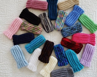 Baby Winter  Thumbless Mittens, Mittens on a String,  Infant Mittens, Hand Warmers, Crocheted Mittens, Girl Mittens, Boy Mits, Snow Mittens
