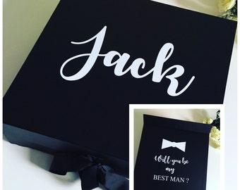 Will you be my best man box, best man gift box, usher gift box, groomsman box, wedding keepsake box