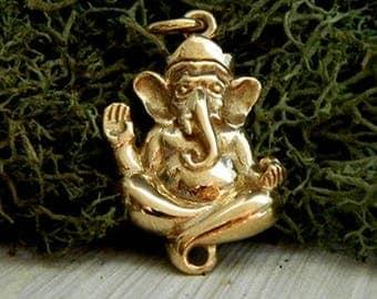 Bronze Elephant Ganesh Charm