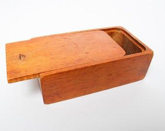 Vintage Wooden Primitive Box, holder  (C0445)