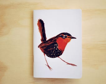 Chucao Bird notebook / printed sketchbook, with original illustration