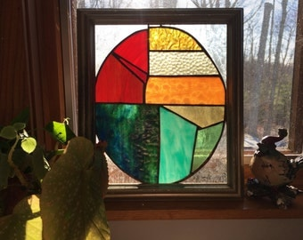 Infinite Possibilities - Stained Glass, Rainbow Egg