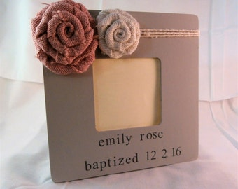 Baptism gift girl christening gifts for girls, baptism gift from godmother godfather godparents baptism picture frame