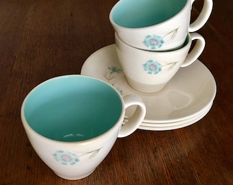 Taylor Smith and Taylor Boutonnière Cup and Saucers Set of 3