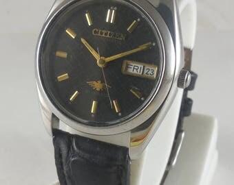 Vintage Original CITIZEN AUTOMATIC 21J Watch Automatic 8200 Running Watch Date@3#Ew-309