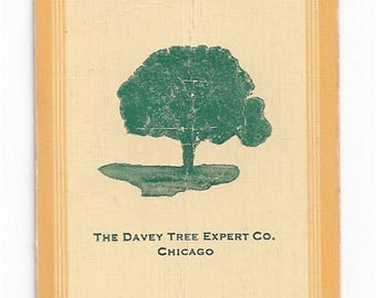 Swap Trading Card - 1930s - 1940s - Davey Tree Expert - Playing Side is 8 of Diamonds
