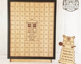 Dr Who T.A.R.D.I.S Wedding Guest Jigsaw Puzzle
