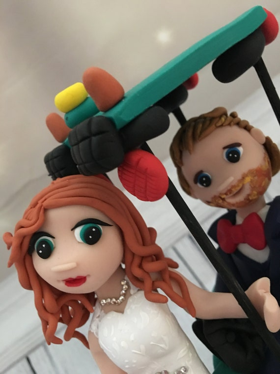 Tractor/Farm theme Bride and Groom Wedding cake Topper - Fully Personalised a lovely keepsake