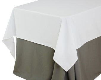 60 x 102 inches white rectangular tablecloths white table cloths for 6 ft tables - Cloth Tablecloths