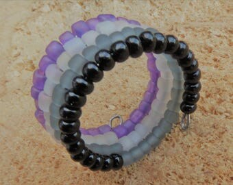 New 2017 Frosted Glass Memory Asexual Rings