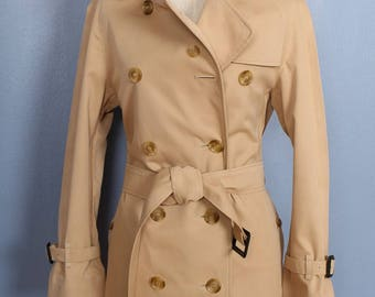 100% Authentic Womens Burberry Beige Double Breasted Trench Coat  U.S. 2 P 2P
