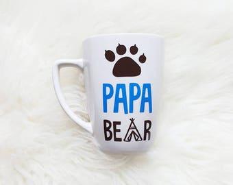 Papa Bear Mug/New Dad Mug/Papa Bear/New Grandpa Mug/Fathers Day Mug/Dad Mug/Fathers Day Gift/Gifts for Dad/Dad Birthday Gift/Bear Mug/Coffee