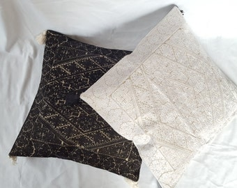 Black and White Embroidered Cushion Covers....!!!!
