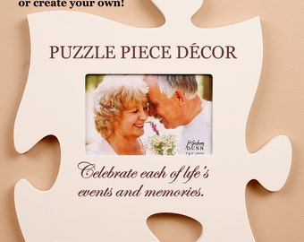 White Puzzle Plaque Wall Decor
