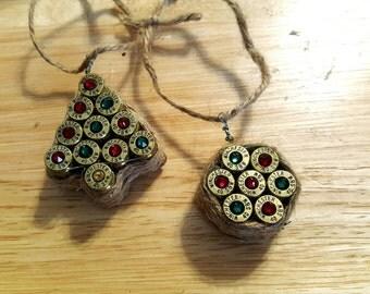 2 Bullet casing Christmas ornament (set of 2)