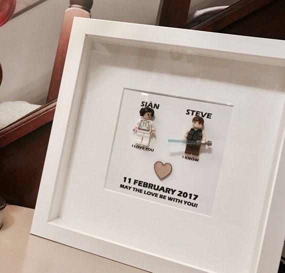 Star Wars Wedding Gifts: Star Wars Wedding Lego Gift Frame I Love You / I Know