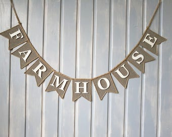 farmhouse banner, farmhouse sign, Farmhouse Decor, Farmhouse Home Decor,  farmhouse painted sign, rustic banner