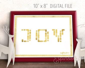 "JOY  |  10""x8"" Art Print, Modern Foil Look"