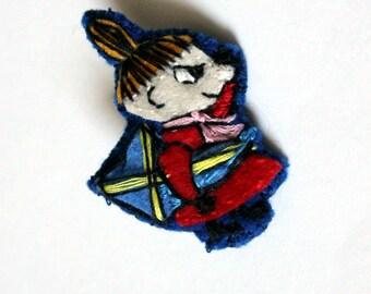 Felt badge; Moomin; Little My