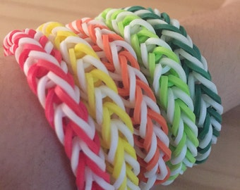 Rainbow Loom Colorful Fishtail Simple Bracelet (Proceeds donated to the International Child Art Foundation)