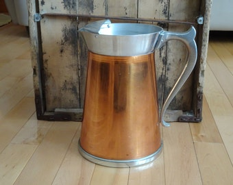 Large Copper Pitch with Handle | Rustic Home Decor | Copper Decorative Water Pitcher | Large Copper Vase | Photo Prop | Copper Pitcher