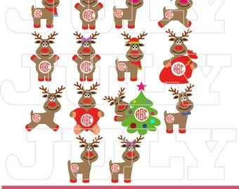 Reindeer svg, Deer svg, Deer Clipart, Deer svg, Christmas svg, Christmas Monogram svg, Christmas Monogram Cut files, Christmas svg