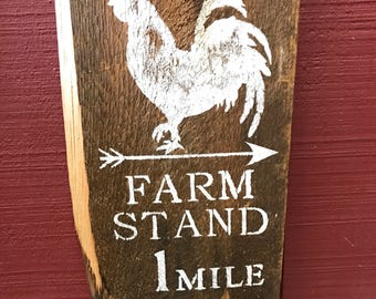 Barn wood rooster sign