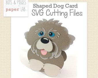 SVG Cutting Files: Shaped Dog Card SVG, Dog SVG, animal svg