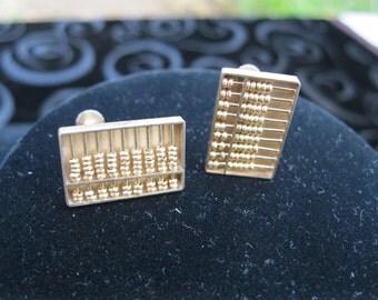 Abacus Screw back Earrings