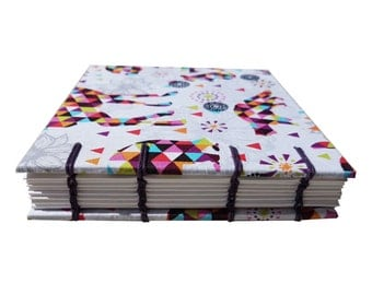 Handmade notebook - abstract geometric art *LIMITED EDITION*