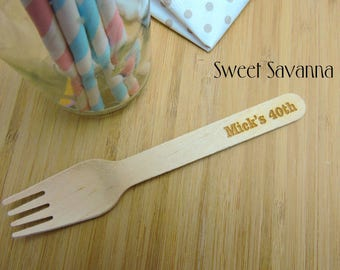 Custom Cutlery - Personalise it with your message! Eco-Friendly Wooden Cutlery