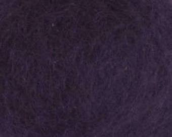 Carded Maori Wool, Blackberry, 50 grams (1.75 oz)