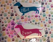 Dachshund Decal [ 2 color...