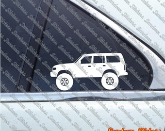 2X Lifted 4x4 outline stickers - for Toyota Land Cruiser J80 (1990–1997)