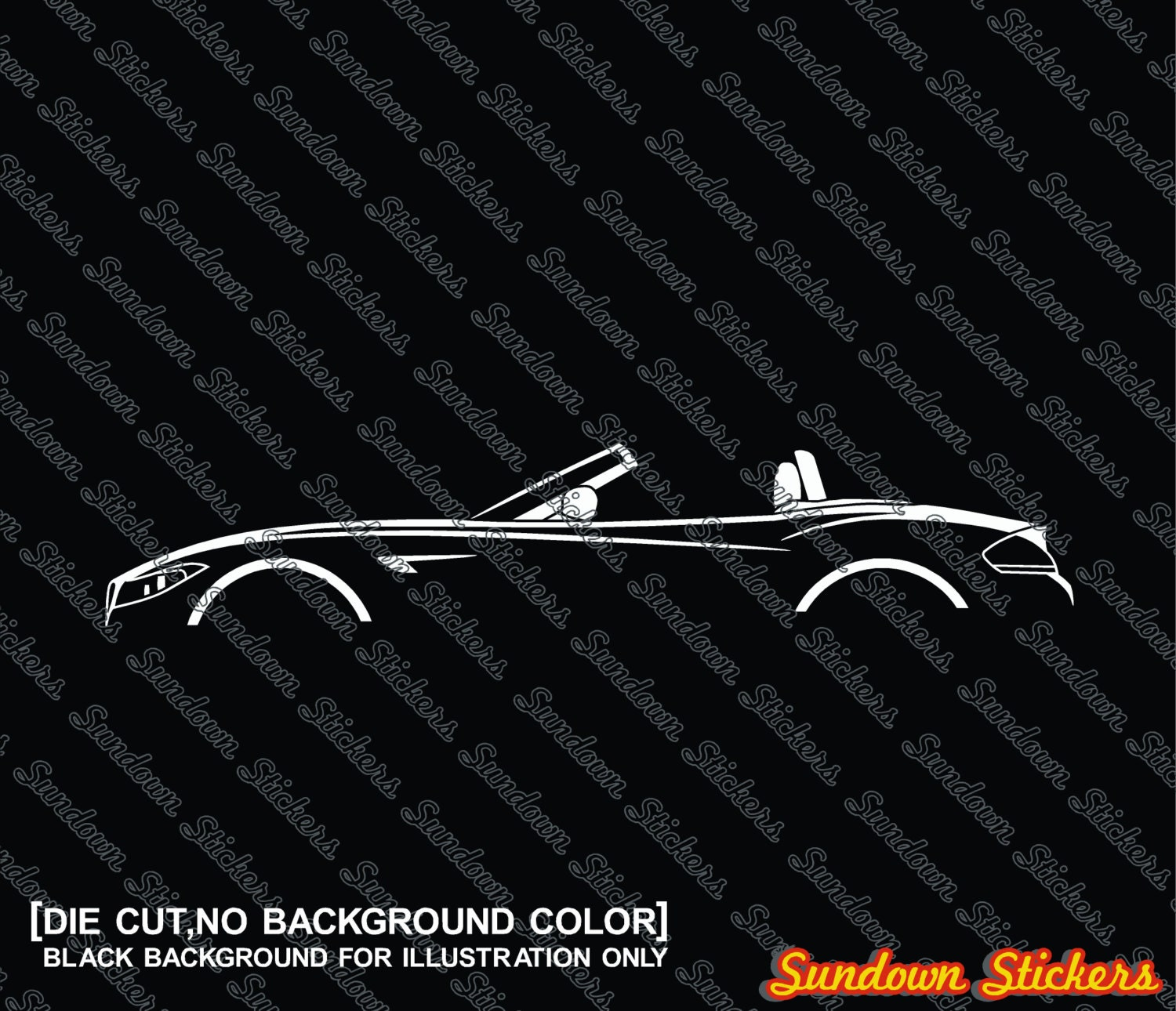 Bmw Z4 Australia: 2X Car Silhouette Stickers