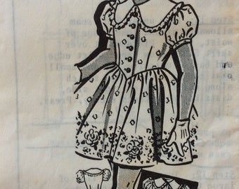 Mail order 8228 girls dress size 5 vintage 1950's sewing pattern   Sew-Rite
