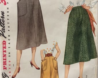 Simplicity 4179 misses skirt waist 32 vintage 1950's sewing pattern  Uncut  Factory folds
