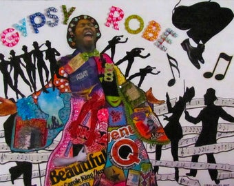 Broadway Musicals Gypsy Robe Ceremony Mixed Media Collage On Wood