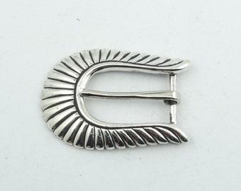 """Vintage Sterling Silver Stamped """"Don"""" Belt Buckle  #DON-BK2"""