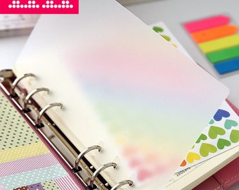 Blank Planner dividers/A5 Clearly Plastic index/ A6 (personal) planner dividers/Dashboard B19