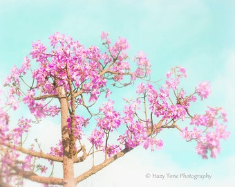 aqua trees nature | etsy - Schlafzimmer Mint Rosa