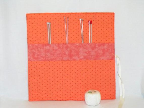 Knitting Needle Storage Roll : Knitting organizer needle roll