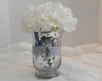 Wedding centerpiece,  Mercury glass vase, Wedding decoration, Mercury glass flower vase ,Wedding centerpiece, Wedding vase
