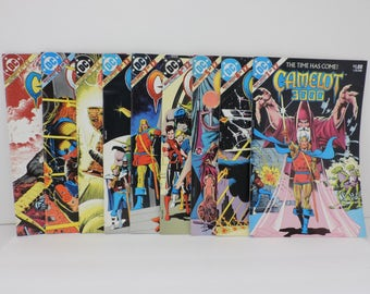 CAMELOT 3000, DC Comics, Issues#1,4,5,6,7,8,9,10,12,Lot of 9, 1982-5 Copper Age