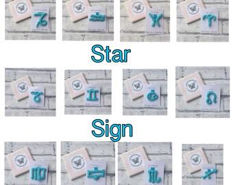 Star sign keyring, horoscope keyring, zodiac keyring, astrology keyring, birthday keyring